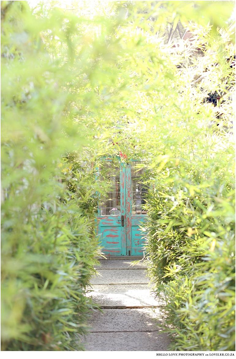 Vintage door at Gabriella's Tea room