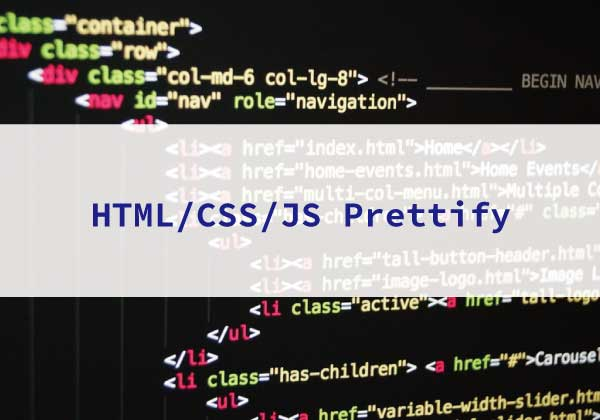 HTML/CSS/JS Prettify