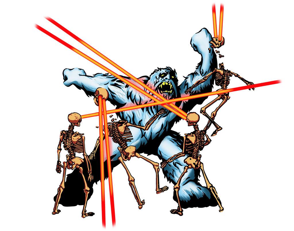 yeti vs laser skeletons