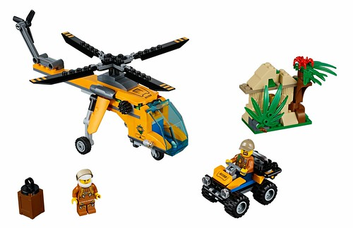 LEGO City Jungle 60158 Jungle Cargo Helicopter 00