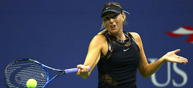 Avanza María Sharapova a paso firme en el US Open (Video)