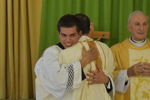 Profesiones religiosas en el noviciado de Salamanca.
