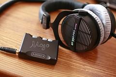 Chord Mojo and Beyerdynamic DT990Pro headphones
