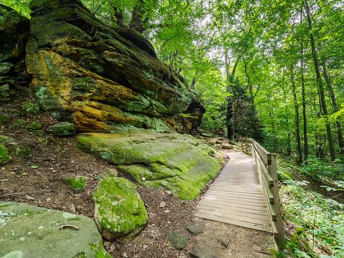 landscape ledges park cuyahogavalleynationalpark recreation virginiakendall area peninsula ohio unitedstates us
