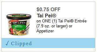 Deal on Tai Pei Entrees