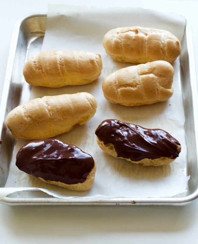 Dairy Free Coconut Oil Chocolate Eclairs