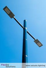 Flexsol Soluxio autonomous solar street light post with double armature