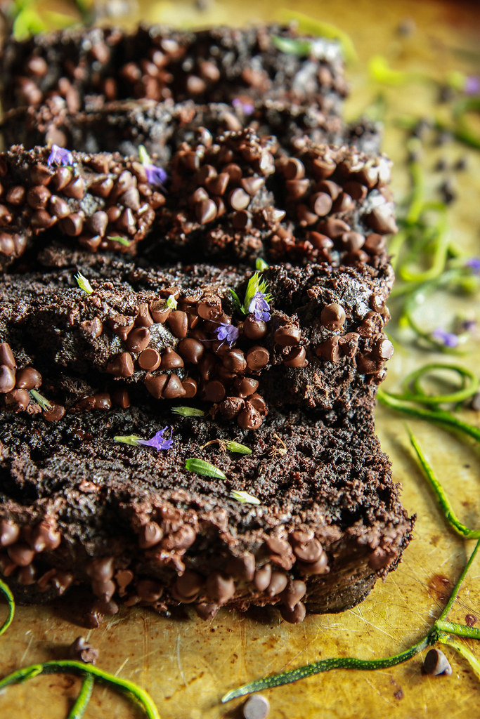 Chocolate Zucchini Bread- Vegan and Gluten-free from HeatherChristo.com