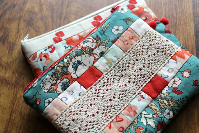 Love Story Zip Pouches