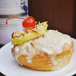Have a staycation with us today with our reggae brunch! Live music featuring @kylenicholas_music and this Pina Colada donut! Make a reservation! See you there :sunglasses::ocean: