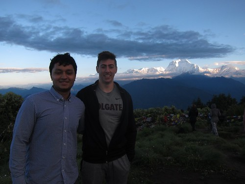 Rishav Sharma '18 and Will Rosencrans '19 (majoring in Physics)went on in the Annapurna trek through the himalayas,  in front of Dhaulagiri (7th highest peak in the world)