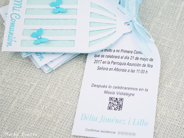 Invitaciones para comunion Merbo Events