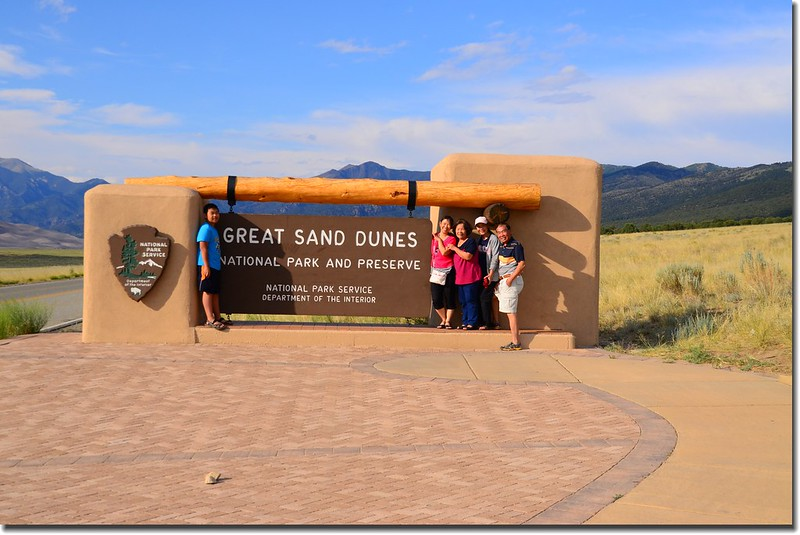 Great Sand Dunes National Park entrance sign 1