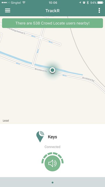 TrackR iOS App - Home