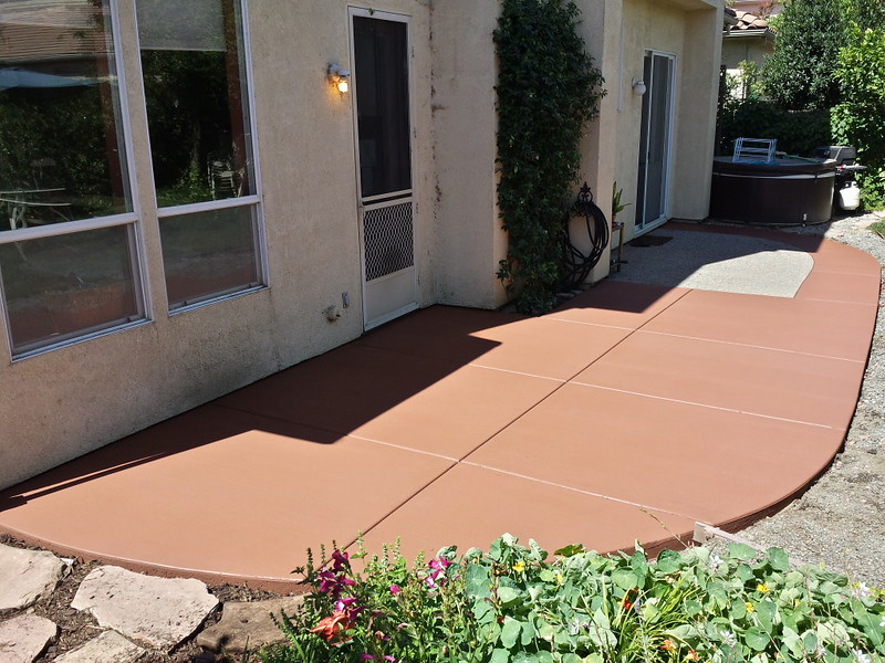 New Colored Concrete Patio In Davis