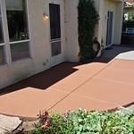 New Colored Concrete Patio In Davis