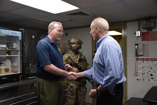Secretary Kelly visits aboard USCGC Aspen