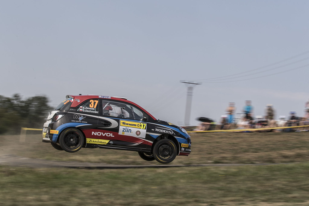 37 ZAWADA Aleksander (POL) DACHOWSKI Grzegorz (POL)  Opel Adam R2 action during the 2017 European Rally Championship ERC Barum rally,  from August 25 to 27, at Zlin, Czech Republic - Photo Gregory Lenormand / DPPI
