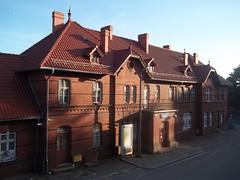 Bytów - Dworzec kolejowy w Bytowie - Kaszuby - Polska Poland