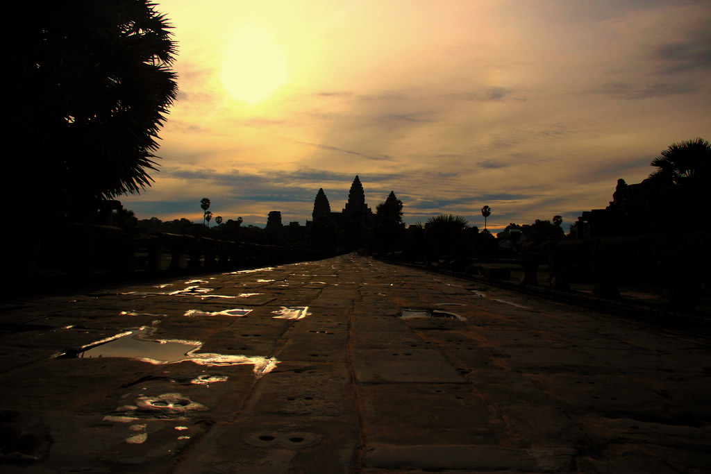 Angkor Wat During Sunrise
