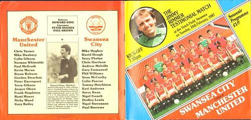 Jimmy Rimmer Testimonial: Swansea City v Manchester United 1987