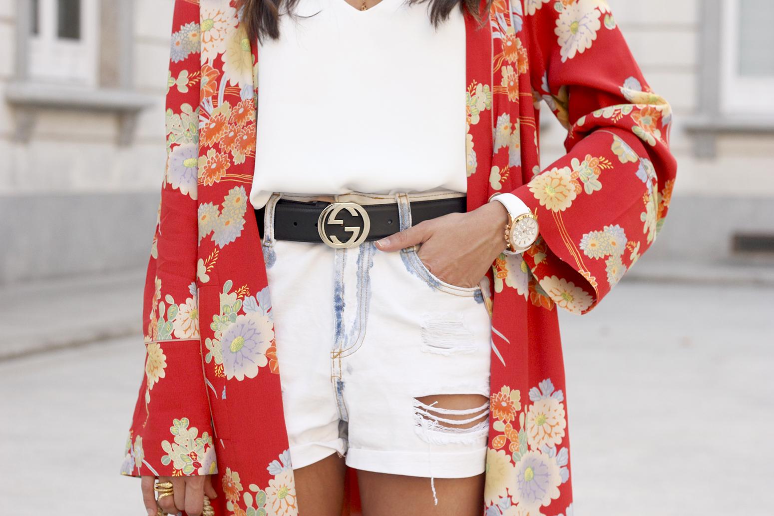 Flowered maxi kimono denim short heels summer girl style fashion18