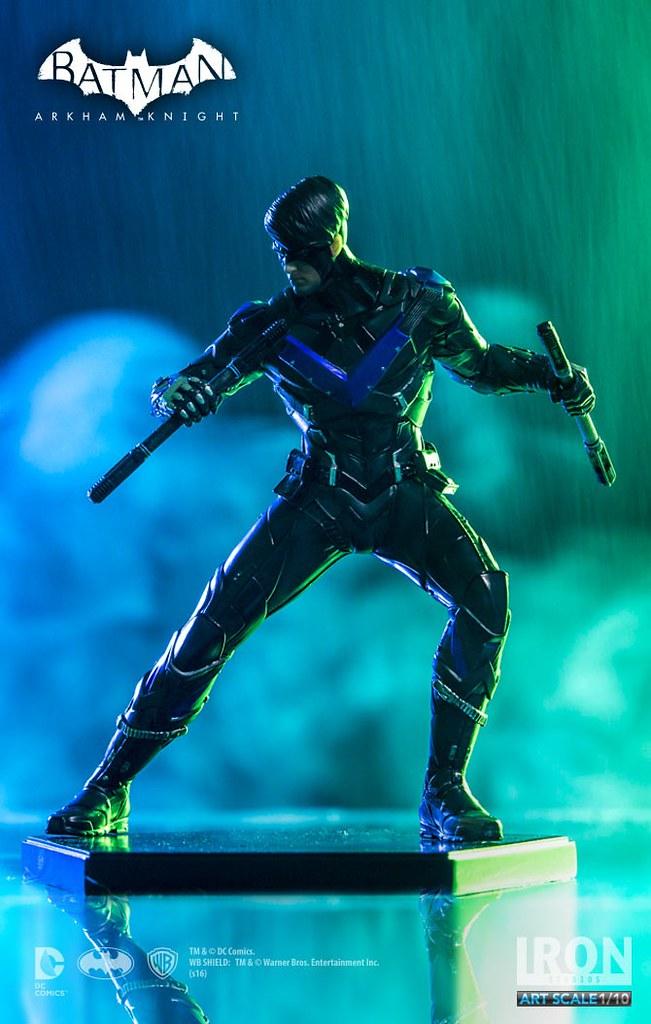 Iron Studios 蝙蝠俠:阿卡漢騎士【夜翼】Arkham Knight Nightwing 1/10 比例全身雕像作品