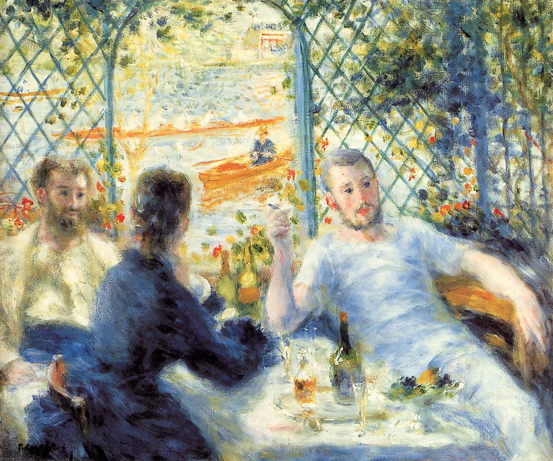 The Canoeist's Luncheon by Pierre Auguste Renoir, 1880