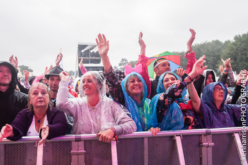 06th August 2017. Festival Crowd brave the rain at Rewind North