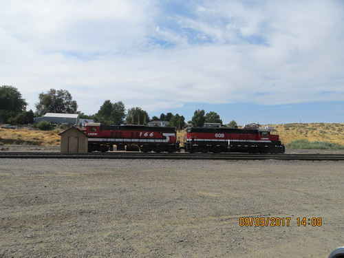 Columbia Basin Rail Road locos in Connell