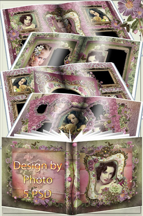 Photobook for Photoshop – love in vintage style