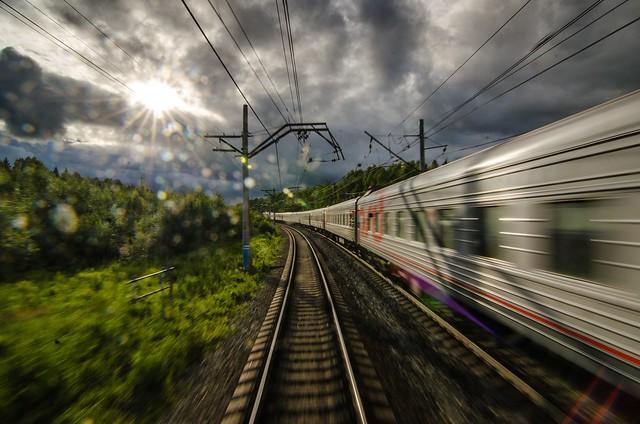 Uno de los trenes que realiza el recorrido del BAM en territorio ruso