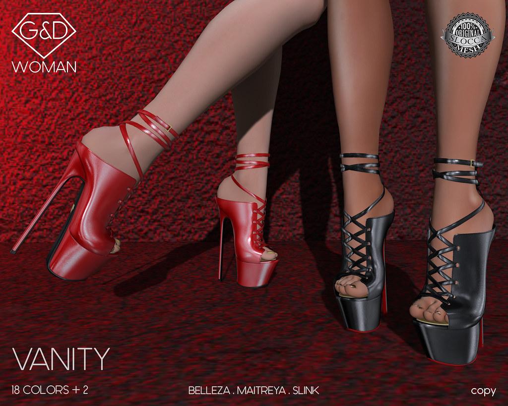 G&D Shoes Vanity 01 adv - SecondLifeHub.com