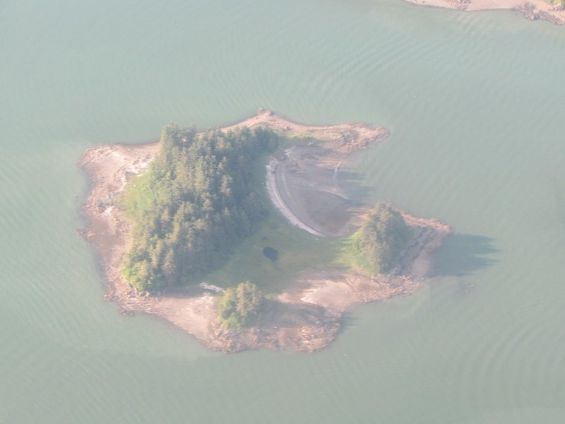 An island near Juneau ...