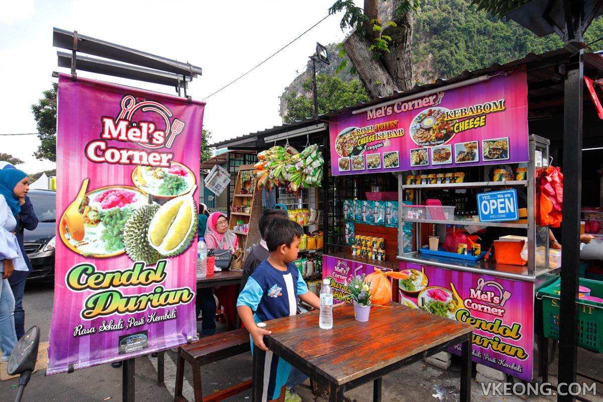 Mel's Corner Batu Caves Durian Cendol