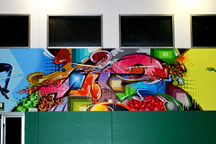 School gym - detail 4: WIZ graffiti lettering - by WIZ ART