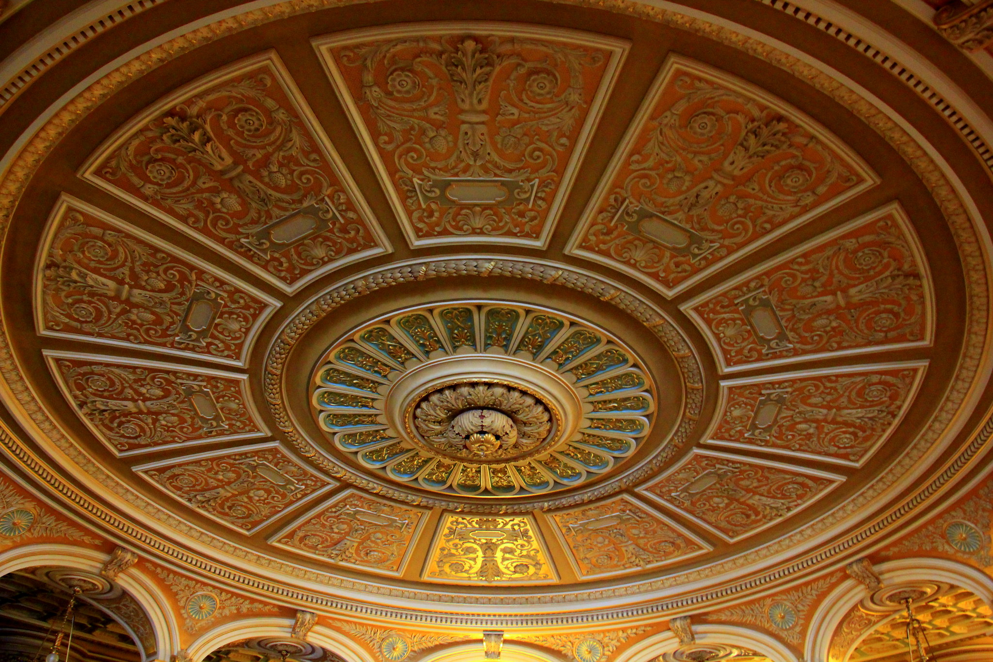 The Romanian Athenaeum was nearly completely built by the money contributed by the local citizens of Bucharest Romania