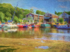 Boats, house boats and boat houses