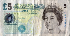 Old £5 note front
