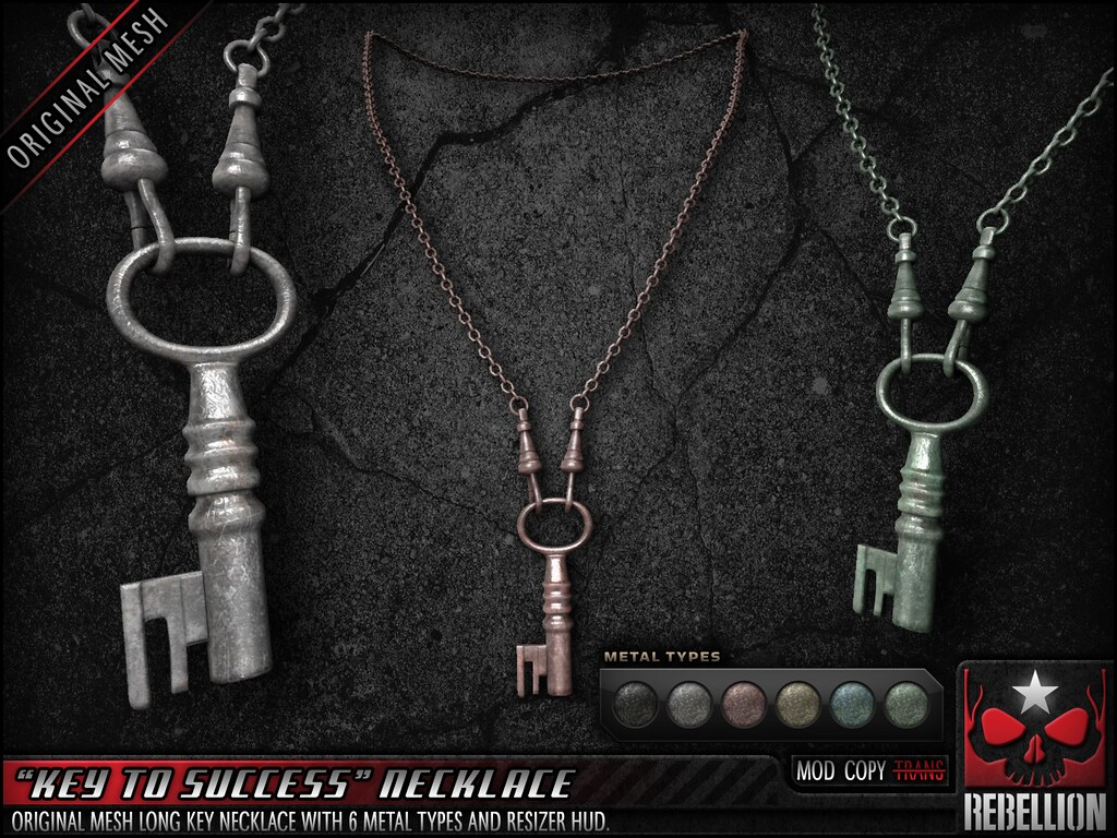 "= REBELLION = ""KEY TO SUCCESS"" NECKLACE - SecondLifeHub.com"