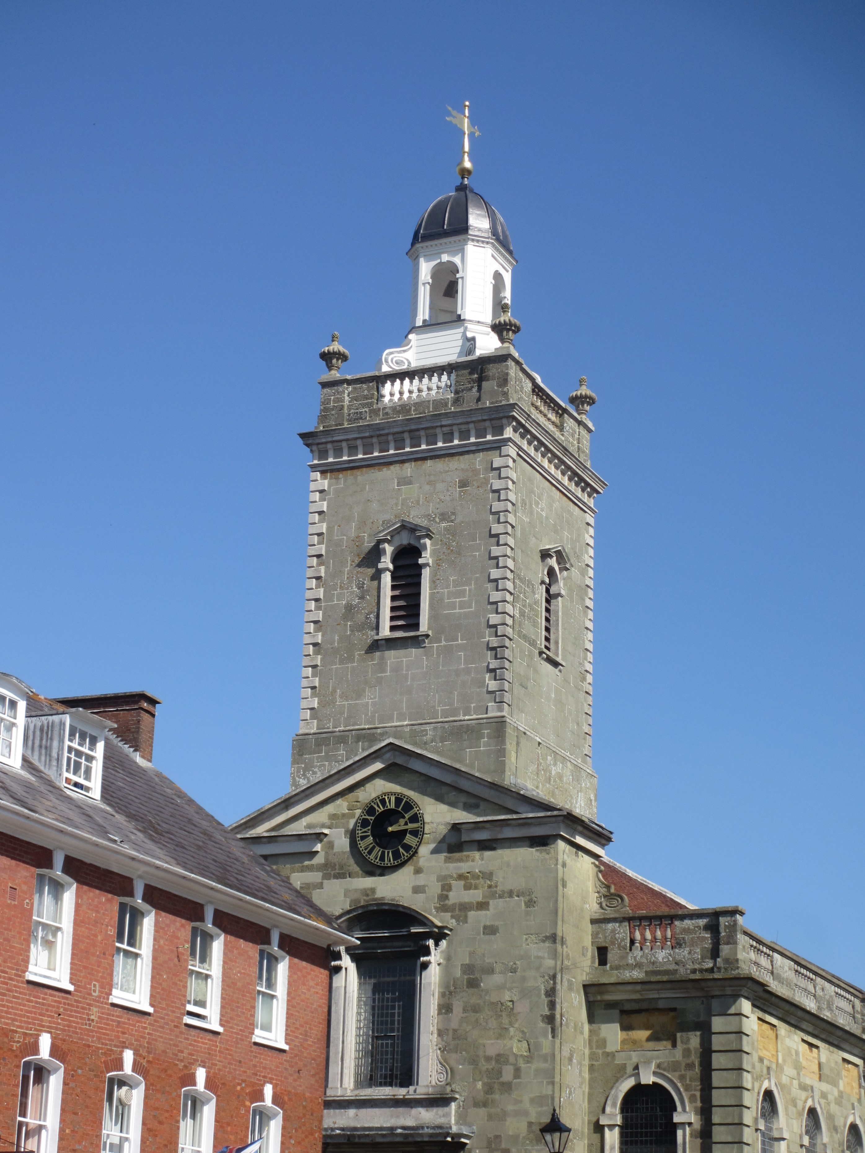King of Prussia Gold Medal: St Peter and St Paul Blandford Forum (The completed cupola)