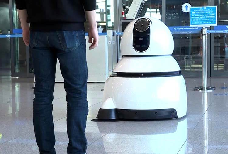 airport clean robot