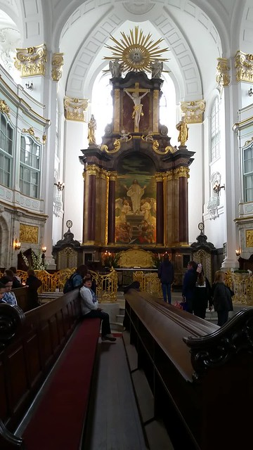 1786 Baroque Church of St Michael in Hamburg. (Brahms was baptised here.)