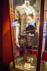 """Hard Rock Hotel and Casino rock and roll memorabilia in Las Vegas. Britney Spear's outfit from her first video """"Baby One More Time""""."""