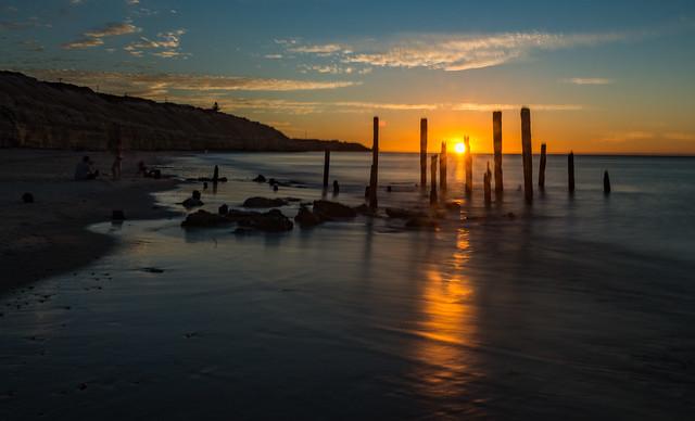 Sunset at Aldinga Beach (south of Adelaide), South Australia
