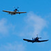 AirExpo 2017 - Corsair and Mustang in Formation