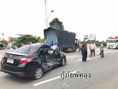 พัทลุง อุบัติเหตุหกล้อชนรถเก๋ง เด็ก 5 ขวบสาหัส (4)