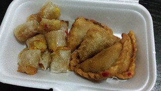 Vegan Samosas and Spring Rolls from Khot Thai
