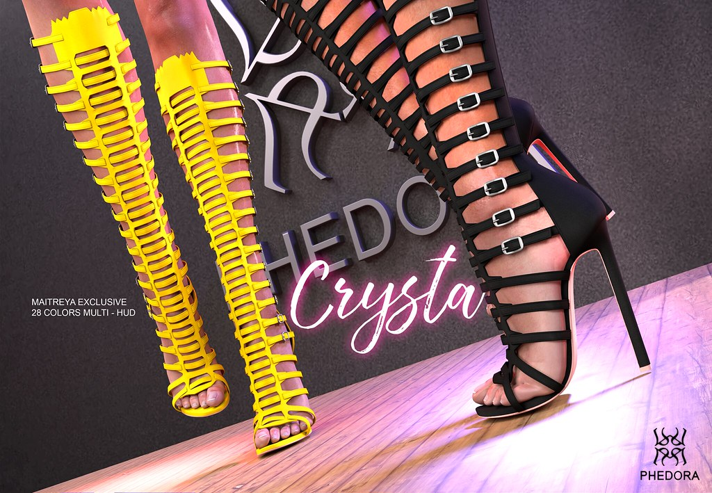 Phedora. for N21- Crysta Gladiator Heels (Maitreya Exclusive)!!!  <3 - SecondLifeHub.com