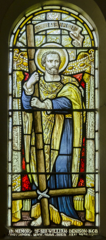Ossington, Holy Rood church, Stained glass window